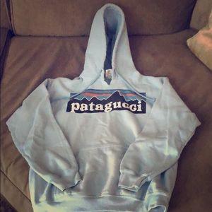 Patagucci (Patagonia) Blue Sweatshirt Hoodie